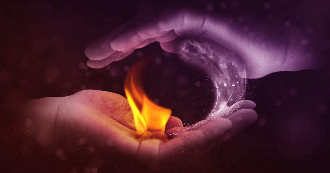 Manos con polaridad Fuego-Agua