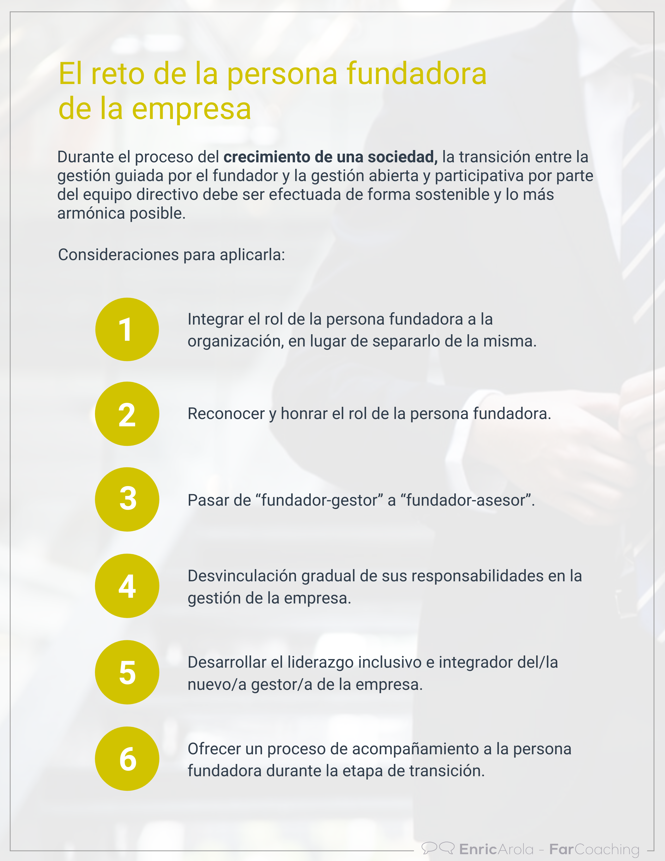 Infografia El reto del fundador de la empresa
